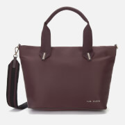 Ted Baker Women's Macieyy Chunky Zip Small Nylon Tote Bag - Oxblood