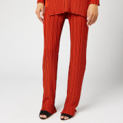 Victoria, Victoria Beckham Women's Pleated Trousers - Brick