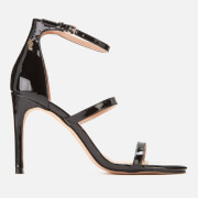 Kurt Geiger London Women's Park Lane Patent Triple Strap Heeled Sandals - Black