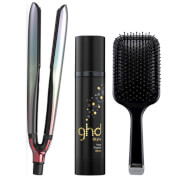 ghd Festival Platinum Set with Heat Protect Spray (Worth $416.00)