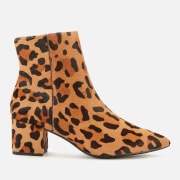Dune Women's Omarii Leopard Print Heeled Ankle Boots - Dark Leopard