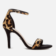 Dune Women's Mydro Leopard Print Barely There Heeled Sandals - Leopard