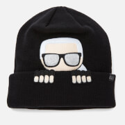 Karl Lagerfeld Women's K/Ikonik Beanie Hat - Black