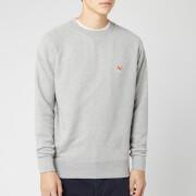 Maison Kitsuné Men's Fox Head Patch Sweatshirt - Grey Melange