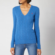 Polo Ralph Lauren Women's Kimberly Classic Long Sleeve Jumper - Gentian Blue Heather