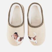 Joules Women's Felt Mule Slippers - Cream Dog
