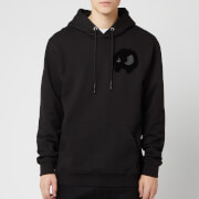 McQ Alexander McQueen Men's Pullover Large Monster Hoodie - Darkest Black