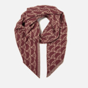 Vivienne Westwood Women's One All Over Logo Scarf - Burgundy-Beige