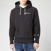 Champion Men's Small Script Hooded Sweatshirt - Black