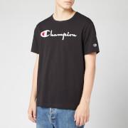 Champion Men's Big Script Crew Neck T-Shirt - Black