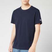 Champion Men's Sleeve Logo Crew Neck T-Shirt - Navy