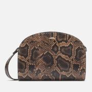 A.P.C. Women's Demi-Lune Python Cross Body Bag - Brown