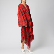 Solace London Women's Nelli Midaxi Dress - Red Snake Print