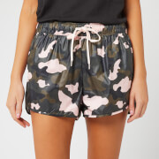 The Upside Women's Forest Camo Running Shorts - Camo/Multi