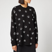 McQ Alexander McQueen Women's Pleat Back Sweatshirt - Darkest Black
