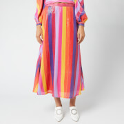 Olivia Ruben Women's Penelope Skirt - Rainbow Stripe