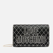 Love Moschino Women's Quilted Logo Shoulder Bag - Black