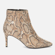 Dune Women's Obsessed Heeled Shoe Boots - Natural Reptile