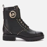 MICHAEL MICHAEL KORS Women's Tatum Leather Lace-up Boots - Black