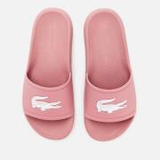 Lacoste Women's Croco Slide Sandals - Pink/White