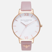 Olivia Burton Women's Embellished Strap Watch - Vegan Rose Sand and Rose Gold