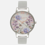 Olivia Burton Women's Parlour Bee Blooms Watch - Enchanted Garden