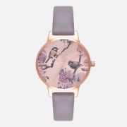 Olivia Burton Women's Pretty Blossom Watch - London Grey and Rose Gold