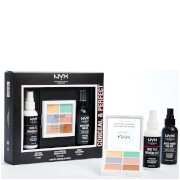 NYX Professional Makeup Conceal and Perfect Primer, 3C, and Setting Spray Gift Set (Worth £25.00)