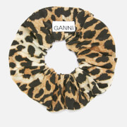 Ganni Women's Silk Mix Scrunchie - Leopard
