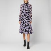 Diane Von Furstenberg Women's Athena Midi Dress - Midnight Forest Black