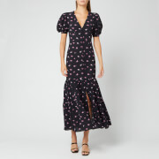 ROTATE Birger Christensen Women's Number 20 Dress - Rose AOP Black Combo