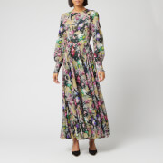 ROTATE Birger Christensen Women's Number 19 Dress - Wild Flower AOP Begonia Combo