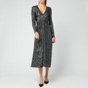 ROTATE Birger Christensen Women's Number 7 Pleat Dress - Black