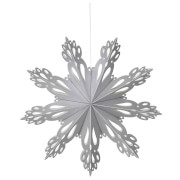 Broste Copenhagen Paper Snowflake Christmas Decoration - Medium - Silver