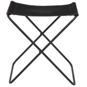 Broste Copenhagen Nola Leather Stool - Black