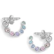 Olivia Burton Women's Rainbow Swirl Bee Hoop Earrings - Silver