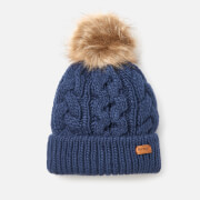 Barbour Women's Penshaw Cable Beanie - Navy