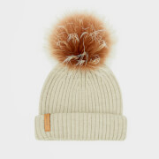 BKLYN Women's Merino Classic Pom Pom Hat - Oatmeal/Brown