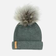 BKLYN Women's Merino Classic Pom Pom Hat - Slate Grey/Dark Grey