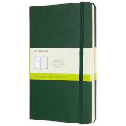 Moleskine Classic Plain Hardcover Large Notebook - Myrtle Green