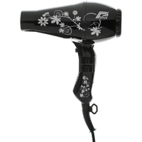 Parlux 3200 Flowers Hair Dryer - Sort/Sølv