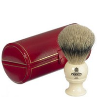 Blaireau de rasage Kent Traditional Pure Grey Badger Shaving Brush - Medium (Bk2)