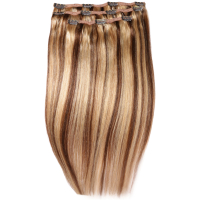Extensiones de cabello Deluxe Clip-In 45,7 cm de Beauty Works - Rubio Miel 6/24