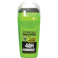 Antitranspirante en roll-on Clean Power 48H de L'Oréal Paris Men Expert (50 ml)