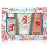 Crabtree & Evelyn Pomegranate, Argan & Grapeseed Little Luxuries 3 x 50 ml
