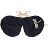 Holistic Silk Lavender Eye Mask - Black Dragonfly