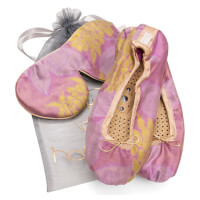 Holistic Silk Eye Mask Slipper Gift Set - Rose (Various Sizes)