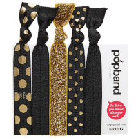Popband London Hair Ties - Black Magic