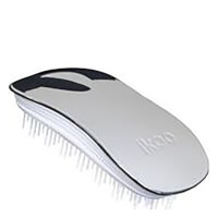 ikoo Home Hair Brush - White - Oyster Metallic