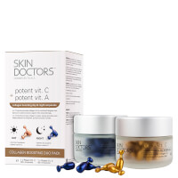 Skin Doctors Potent Vitamin C and Vitamin A Collagen Boosting Day/Night Ampoules Duo Pack